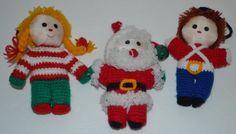 Vintage Christmas Ornaments Lot of 3 R. Dakin & Co. San Francisco 1984 Santa   #RDakinCo