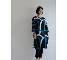 "One piece dress made of ""Chizimi weaving"" traditional japanese crepe cotton. #sousou, #japan, #kyoto, #kimono"