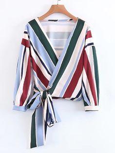 Shop Surplice Front Lace Up Wrap Top online. SheIn offers Surplice Front Lace Up Wrap Top & more to fit your fashionable needs.