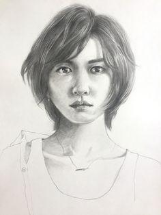 新垣結衣 Aragaki Yui Pencil Sketch
