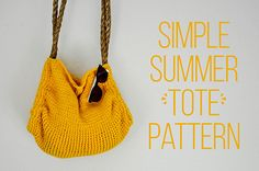 Simple Summer Tote Pattern