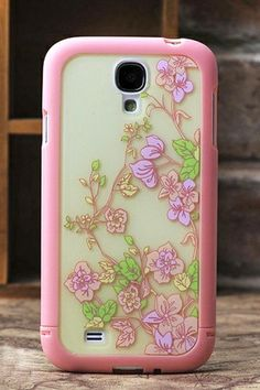 REGISTER ON PERSNMALL.COM Cute Flower Back Case for Samsung Galaxy S4