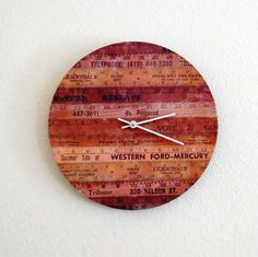 Rustic Wall Clock - Brown Decor - Home and Living - Home Decor - Decor and Housewares - Housewarming Gift