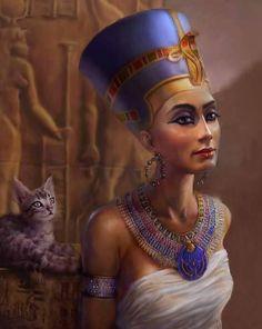 Nefertiti by SteveDeLaMare on DeviantArt Ancient Egypt Art, Old Egypt, Egyptian Women, Egyptian Art, Egyptian Pharaohs, Egyptian Jewelry, Egyptian Mythology, Egyptian Goddess, Egypt Concept Art
