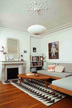 La casa parisina de una diseñadora de muebles escandinavos   Etxekodeco