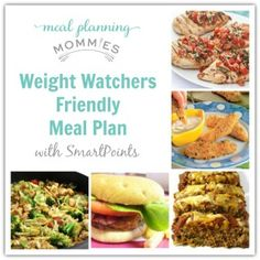 Weight Watcher Meal Plan and Grocery List w/ New SmartPoints