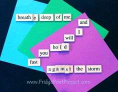 The Daily Magnet #310 Magnetic Poetry; Demagnetize Writer's Block! www.FridgePoetProject.com #writerslife