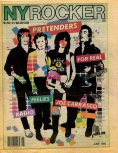New York Rocker- the story of a great zine and its history with indie rock Music Covers, Album Covers, Punk Magazine, Chrissie Hynde, The Pretenders, Underground Music, Post Punk, Concert Posters, Artist Art