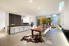 Kitchen   2 Cunningham Street, South Yarra Open Plan Kitchen Diner, Dining Room, Dining Table, Table And Chairs, Home Interior Design, Home And Living, Lofts, Inspiration, Furniture