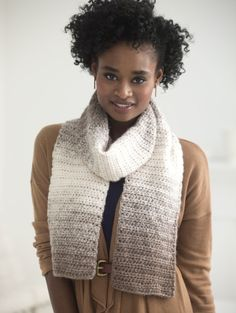 One Ball Crocheted Scarfie