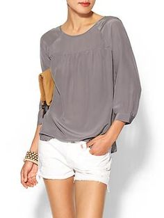 Tinley Road Lex Silk Shirred Popover Top | Piperlime