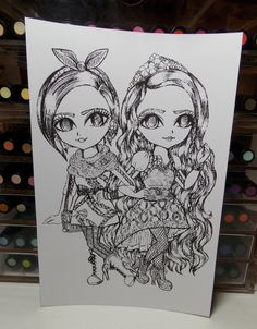 Ever After High 3pack B&W 8 1/2 x 5 7/8 Prints To by BEASTandPIXIE
