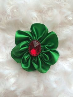Red and Green Holiday Hair Clip, Christmas Hair Bow, Girls Alligator Clip, Hair Accessories, Accessory, Women, Girls, Infant, Toddler, Headband Clip,  by BandsForBabes on Etsy, $3.00