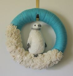 penquin wreath, pinned for inspiration