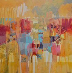 Autumn Landscape 2 acrylic on 36″ X 36″ canvas