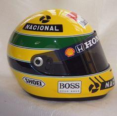 Full Size Shoei Wyvern Racing Helmet Ayrton Senna McLaren Honda Awesome Quality | eBay