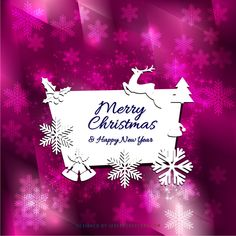 merry christmas and happy new year card background design