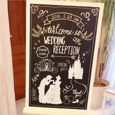 シンデレラが大好きというご新婦のpipi_weddingさま。ディズニー満載のウェディングになりました!ディズニー好きはぜひ真似したいアイディアは必見です♡ Welcome Boards, Disney Bride, When You Love, Loving Someone, Pretty Little, Wedding Stationery, Special Day, Cinderella, Reception