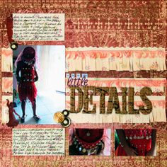 Add Tassels and Fringe to Your Scrapbook Pages for Fun Texture Scrapbook Pages, Scrapbooking Ideas, Scrapbook Layouts, Washi, Embellishments, Tassels, Dots, Paper Crafts, Texture