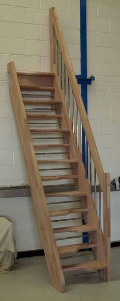 Beech 40 Loft Staircases Shown Here With Optional Open Risers Space Saver  Loft Staircases Offer A Compact Staircase Design