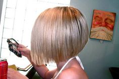 What I like - stacked bob similar to what i usually get but a little different - a little less spiky