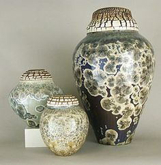Wallick Designs -  Tom Wallick -  crystalline glazes, works in AMOCA's Ceramics Studio