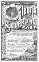 Glenn's Sulphur Soap 1886 Ad Picture