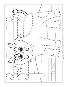 Farm Animals Tracing Coloring Pages - Itsy Bitsy Fun - Farm Animals Tracing Coloring Pages – Itsy Bitsy Fun - Farm Animals Preschool, Farm Animal Crafts, Baby Farm Animals, Animal Crafts For Kids, Farm Activities, Animal Activities, Kindergarten Activities, Animal Worksheets, Preschool Worksheets