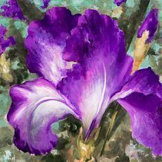 paintings of iris flowers - Yahoo Image Search Results Iris Painting, Acrylic Paintings, Blue Harvest, Dappled Light, Purple Garden, Purple Iris, Iris Flowers, Watercolor Print, Paintings For Sale