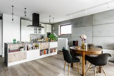 New York-Styled Loft With Industrial And Minimalist Touches - DigsDigs Apartment Living, Living Room, New York Loft, Counter Design, Best Dining, Prefab Homes, Modern House Design, Pallet Furniture, Decoration