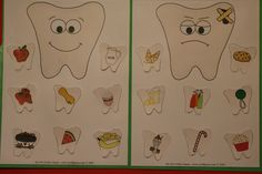 Happy Teeth! Downloadable File Folder Game Dental Hygiene Care Healthy Food Diet Preschool PreK Homeschool Daycare Dentist Teeth Health Body by MyFileFolderGames on Etsy