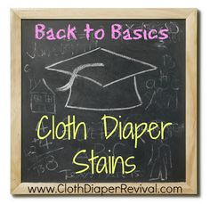 The Cloth Diaper Revival: Back to Basics: Dealing with Stains