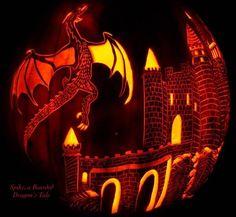 Dragon Castle Pumpkin Carving