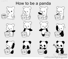 Twitter / milktea0915: パンダを作るの方法