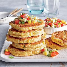 Fresh Corn Cakes with Summer Salsa - Quick and Easy Summer Recipes ...
