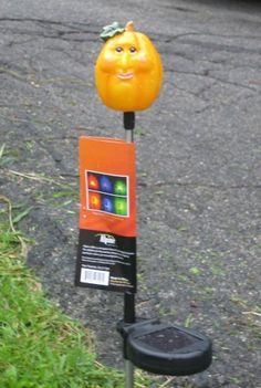 Solar Halloween Pumpkin Stake with Super Bright LED Light by Alpine. $19.99