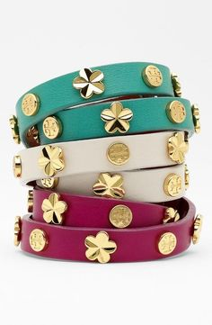Need! Tory Burch Stud Leather Wrap Bracelet