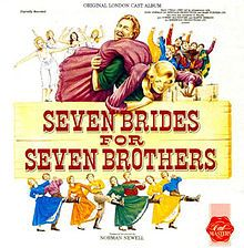 """Seven Brides for Seven Brothers is a musical with a book by Lawrence Kasha and David Landay, music by Gene de Paul, Al Kasha and Joel Hirschhorn, and lyrics by Johnny Mercer, Al Kasha and Joel Hirschhorn. It is based on the 1954 Stanley Donen film of the same name which is, itself, an adaption of the short story """"The Sobbin' Women,"""" by Stephen Vincent Benét, based on the Ancient Roman legend of The Rape of the Sabine Women."""