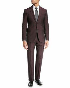 3040fb65847 Emporio Armani Designer Tonal-Stripe Wool Mohair Suit Шерстяной Костюм