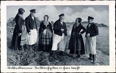 Postkarte Stubbenkammer Sassnitz, Die Mönchgüter in ihrer Tracht #Ruegen…