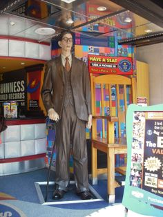 Guiness World Records....Robert Wadlow - the tallest man to ever walk Planet Earth, at 8 foot, 11 inches tall