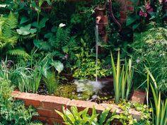 Raised Pond With Brick Retaining Wall