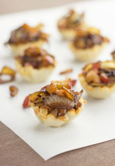 Caramelized Onion, Apple, and Mushroom Brie Cups » The Table