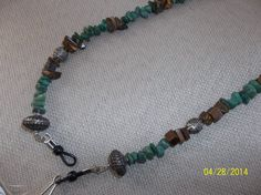 AVENTURINE and  TIGER EYE Lanyard for by VictorianHippieChic, $32.00