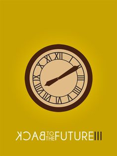 BACK to the FUTURE III Minimalist Film/Movie Poster via Etsy by BBCreate