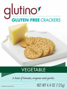 Glutino Gluten Free Vegetable Crackers - great for meat loaf or anything needing crushed crackers or bread.