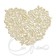MACHINE EMBROIDERY FILE  Valentines Heart Wedding heart от OTKETO