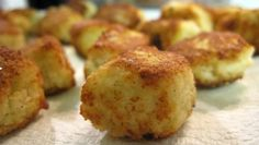 "@Amy Martin Healthy Tater Tots - made with cauliflower instead of potatoes! Can you pass these off to Sophie in during her ""toe"" craze?"