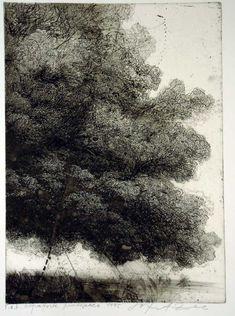 Safet Zec(Bosnian, b.1943) Albero  1995 etching & drypoint