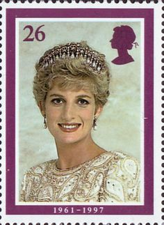 Diana, Princess of Wales Commemoration 26p Stamp (1998) Wearing Tiara, 1991 (photo by Lord Snowdon)